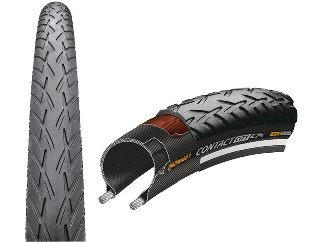 """Continental Contact City Wired-on Tire 28"""" E-25 Reflex, black"""